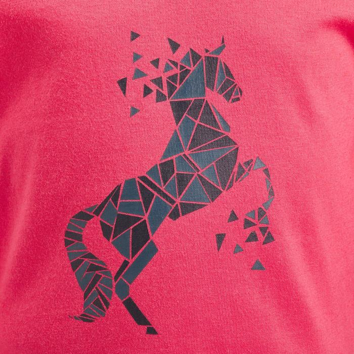 Polo de manga larga equitación bebé 140 rosa
