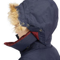 500 Warm Waterproof Children's Horseback Riding Parka - Navy/Burgundy