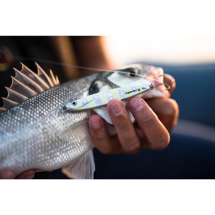 Casting jig pesca en el mar BIASTOS 40 G blanco fosforescante
