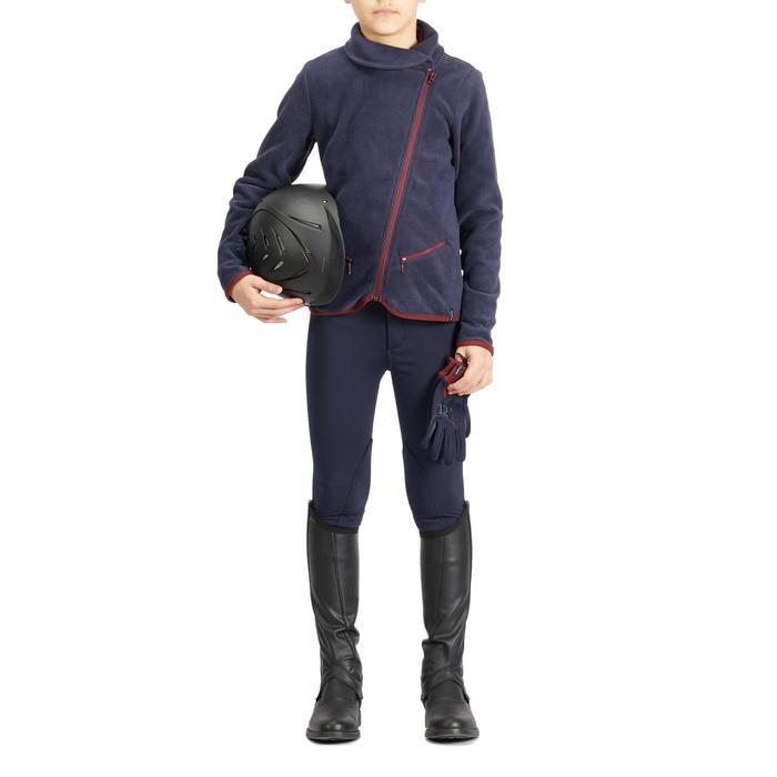 Polaire équitation enfant 100 marine/bordeaux