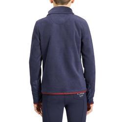 100 Children's Horseback Riding Fleece Sweater - Navy/Burgundy