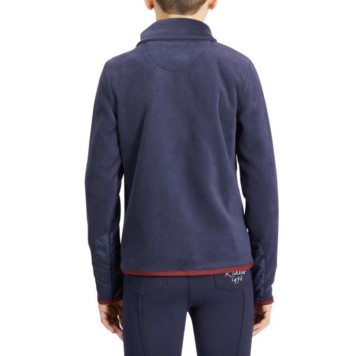 Kinderfleece ruitersport 100 marineblauw/bordeaux