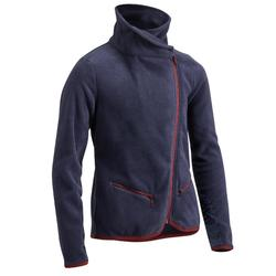 Fleecejacke 100 Kinder marineblau/bordeaux