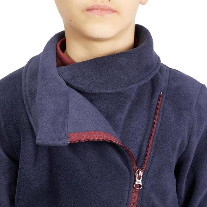 Reitfleecejacke 100 Kinder marineblau/bordeaux
