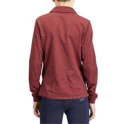 Reit-Poloshirt Langarm 140 Boy Kinder bordeaux