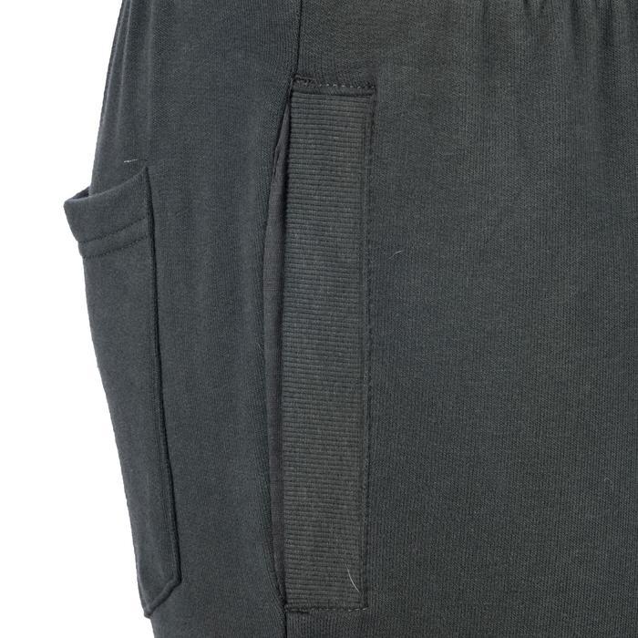 Herenbroek 520 voor gym en pilates, skinny fit, gemêleerd kaki