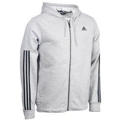 Heren hoodie met rits Adidas voor gym en pilates 3 strepen
