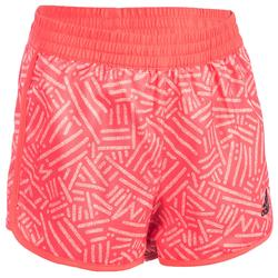 Short Fitness fille corail