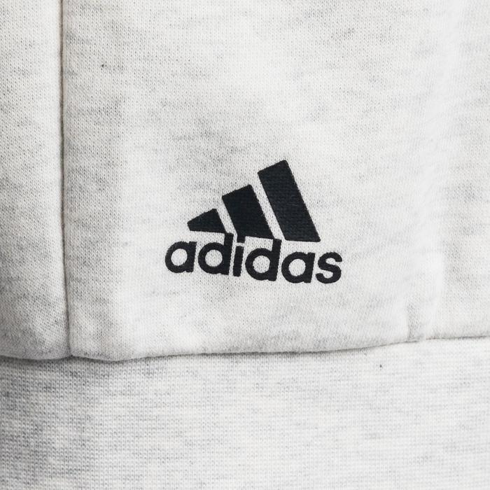 Hoodie met rits Adidas voor gym en pilates wit