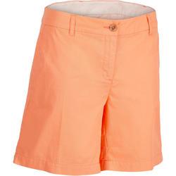 Golfshort 500 voor dames, warm weer, koraal
