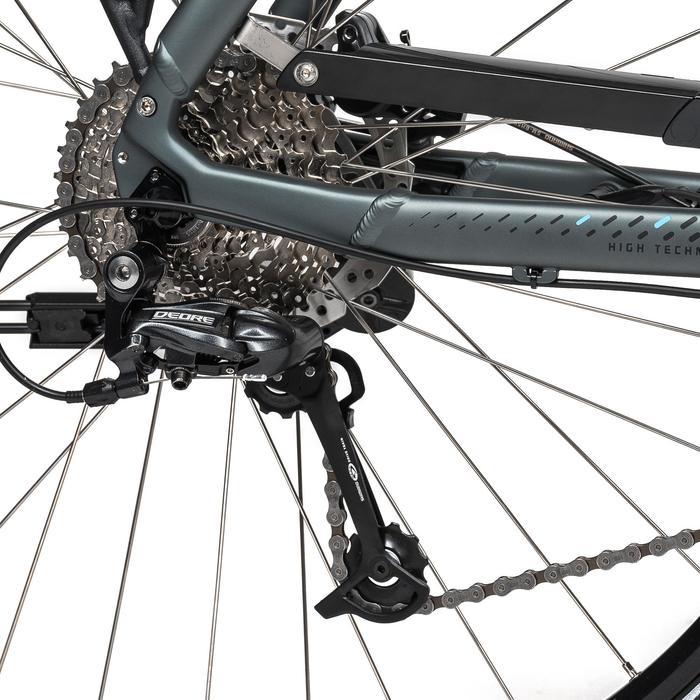 "E-Bike 28"" Trekkingrad Riverside 500 Herren Performance Line 400Wh grau/blau"