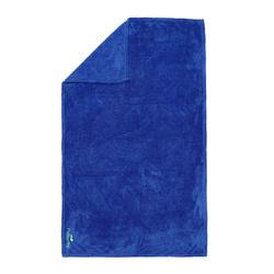 Serviette microfibre ultra douce bleue taille L 80 x 130 cm