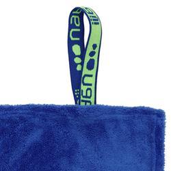 Serviette microfibre douce bleu XL