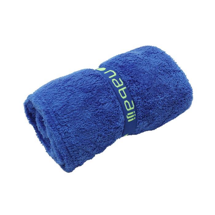 Zeer zachte microvezelhanddoek blauw maat L 80 x 130 cm