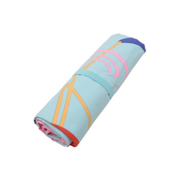 Printed Microfibre Towel, L/XL - Flamingo