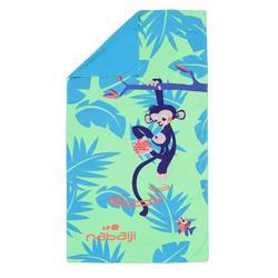 微纖維毛巾 L+號 85 x 160 cm-猴子印花