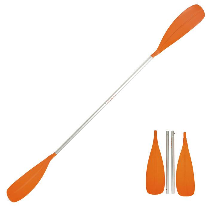 Demonteerbare kajakpeddel 100 4-delig oranje