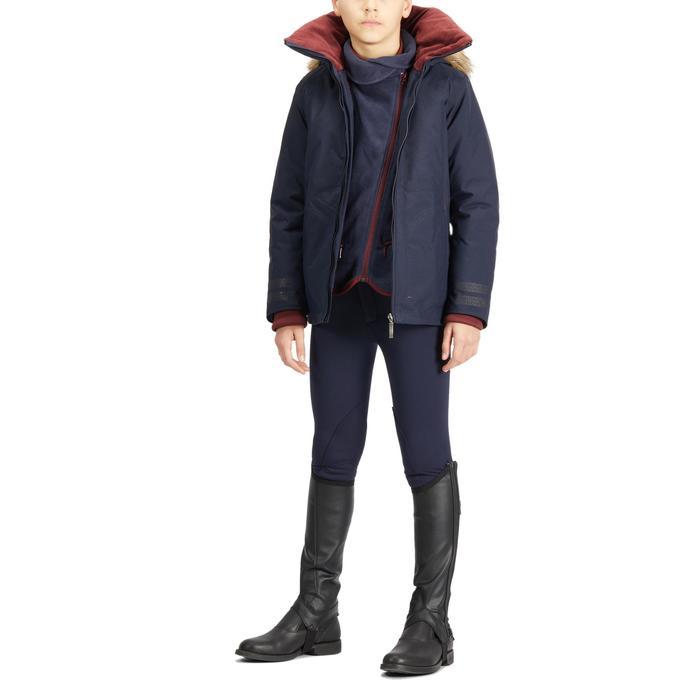 Pantalon chaud équitation enfant 100 WARM marine