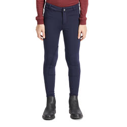 100 Warm Kids' Horseback Riding Warm Jodhpurs - Navy