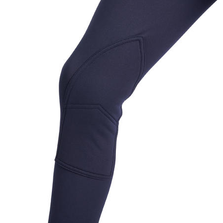 Pantalon chaud équitation 100 CHAUD marine – Enfants