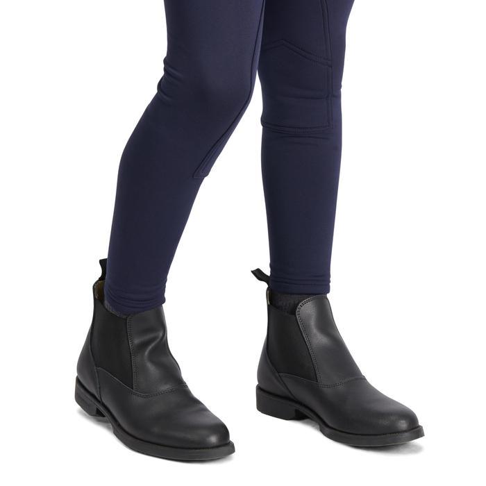兒童款馬術保暖馬褲100-軍藍色