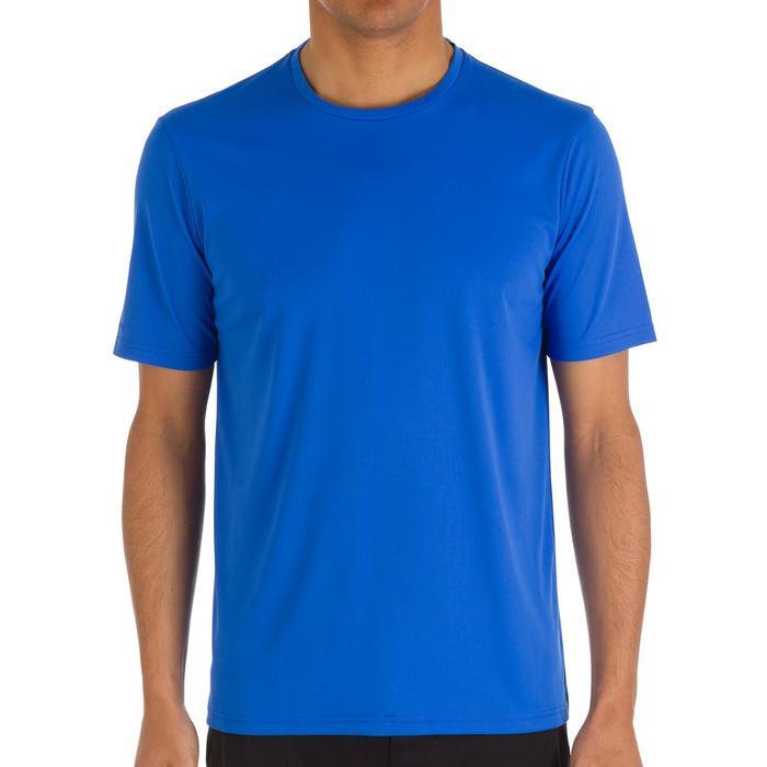 Watershirt anti-uv korte mouwen heren blauw