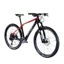 Mountainbike XC 900 27,5 Zoll MTB Cross Country Carbon rot/schwarz