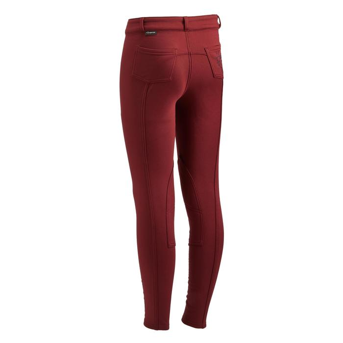 Winter-Reithose 100 Warm Kinder bordeaux