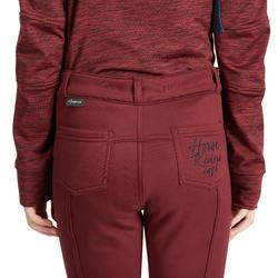 Thermo-Reithose 100 Warm Kinder bordeaux