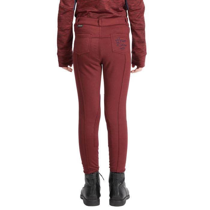 Pantalon chaud équitation enfant ACCESSY bordeaux