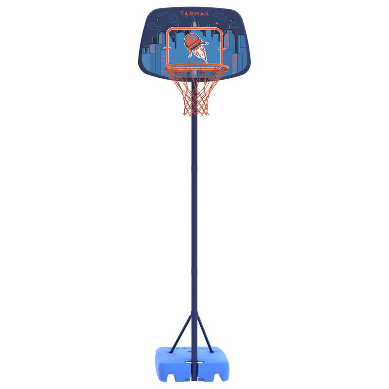 K500 Kids' Basketball Hoop - Blue/Spaceship 1.30 m to 1.60 m. Up to age 8.