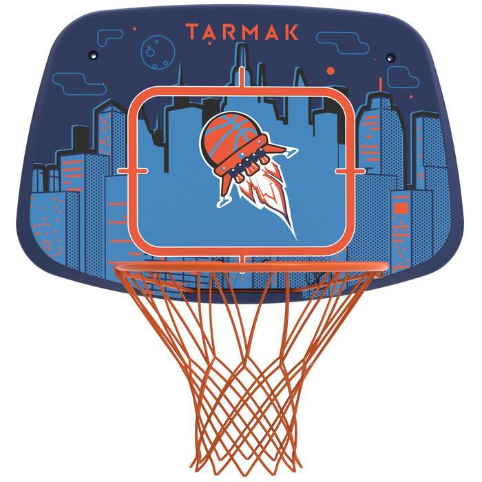 Panier de basketball enfant K500 vaisseau bleu. 1,30m à 1,60m. Jusqu'à 8 ans. - 1345474