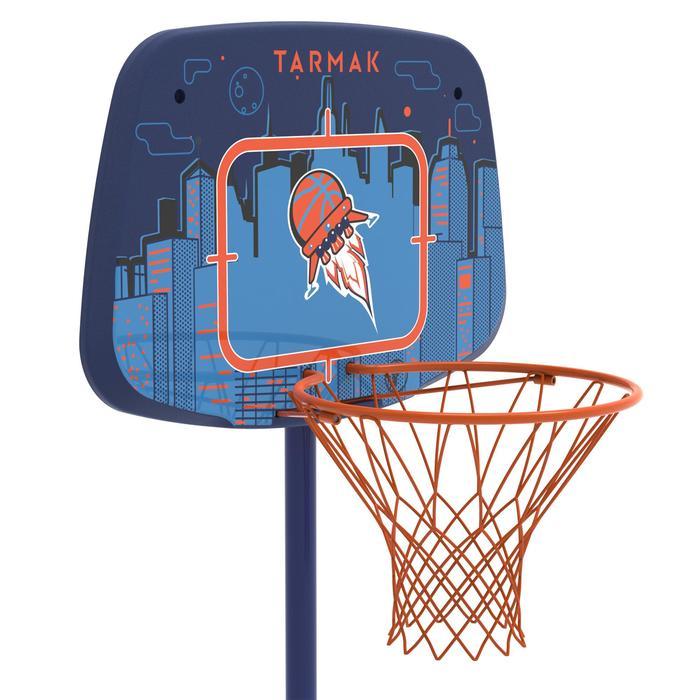 Panier de basketball enfant K500 vaisseau bleu. 1,30m à 1,60m. Jusqu'à 8 ans. - 1345477