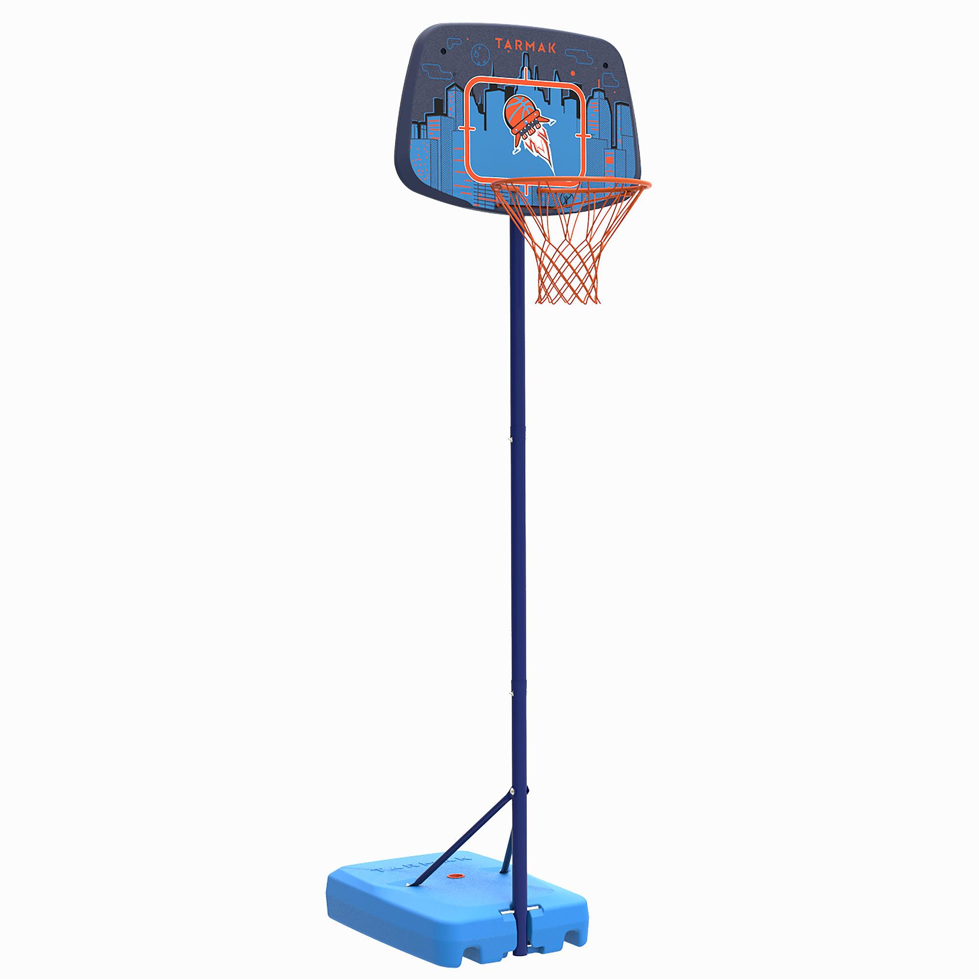 Canasta de básquetbol niño K500 azul. de 1.30 m a 1.60 m. Hasta 8 años