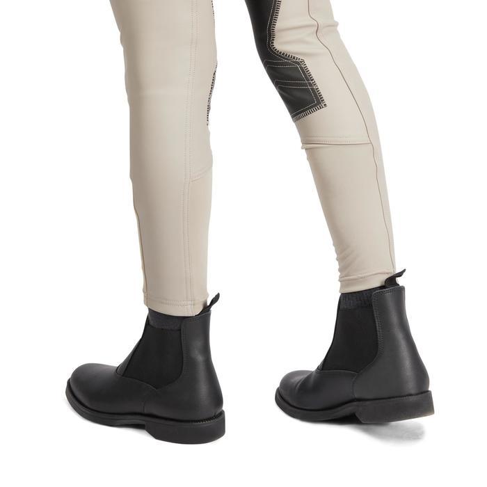 Pantalón Equitación Fouganza 500 Kipwarm Junior Beige Cálido Impermeable