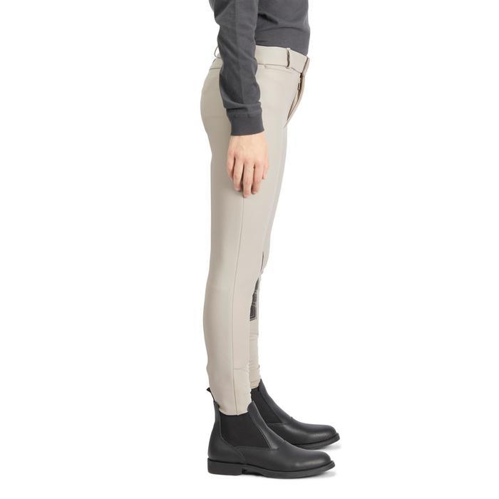 Pantalon chaud imperméable et respirant équitation enfant KIPWARM beige