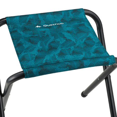 Folding camping stool blue