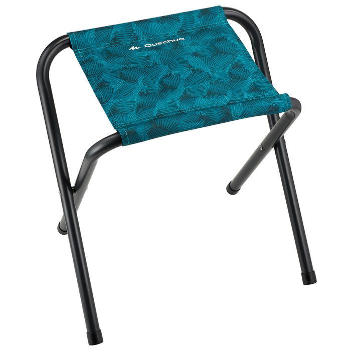 Tabouret pliant de camping bleu - 1345671