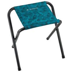 Taburete plegable de camping azul