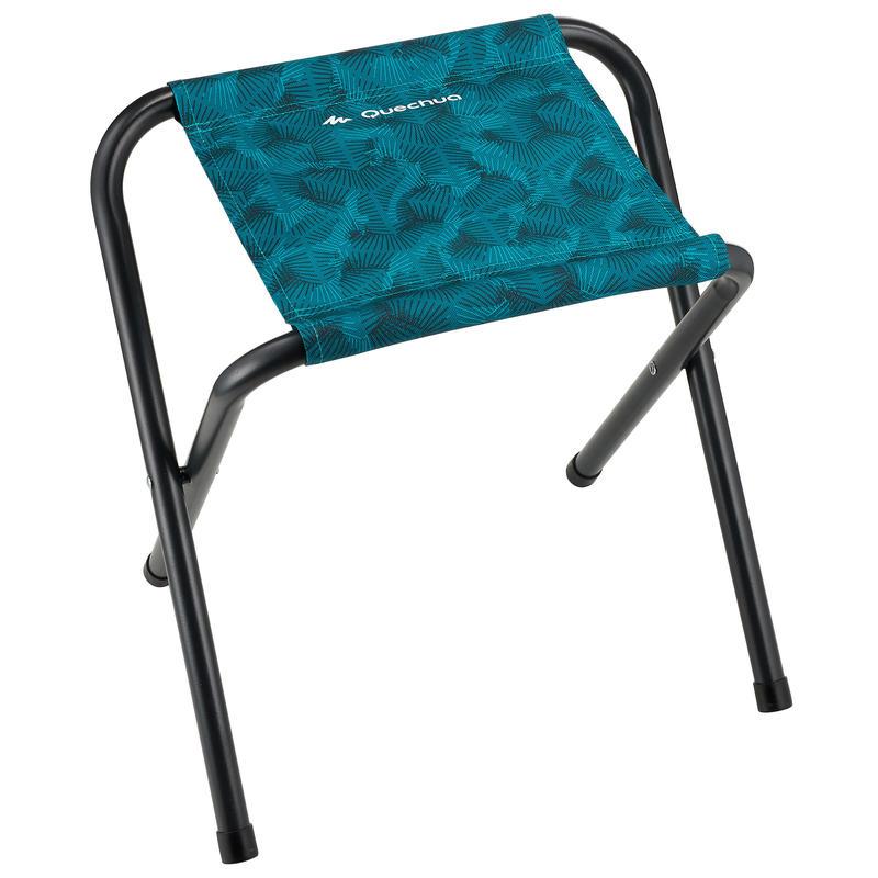 Tabouret pliant de camping bleu