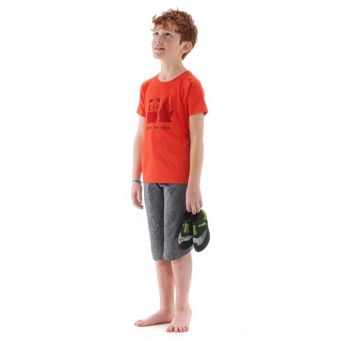 Klimbermuda voor jongens AOP Equipment grijs