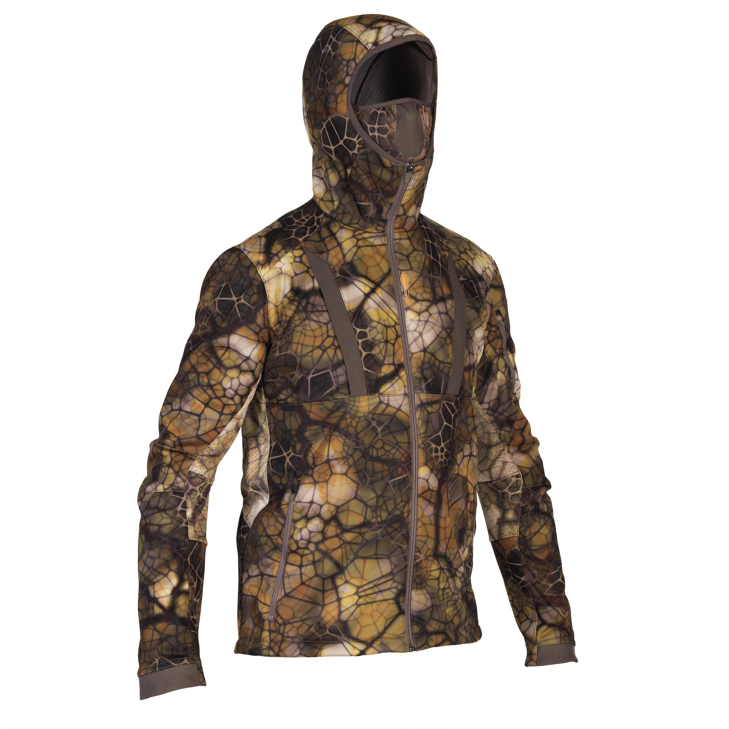 Herren Jagdjacke geräuscharm atmungsaktiv 900 camouflage Furtiv | 03583788136293