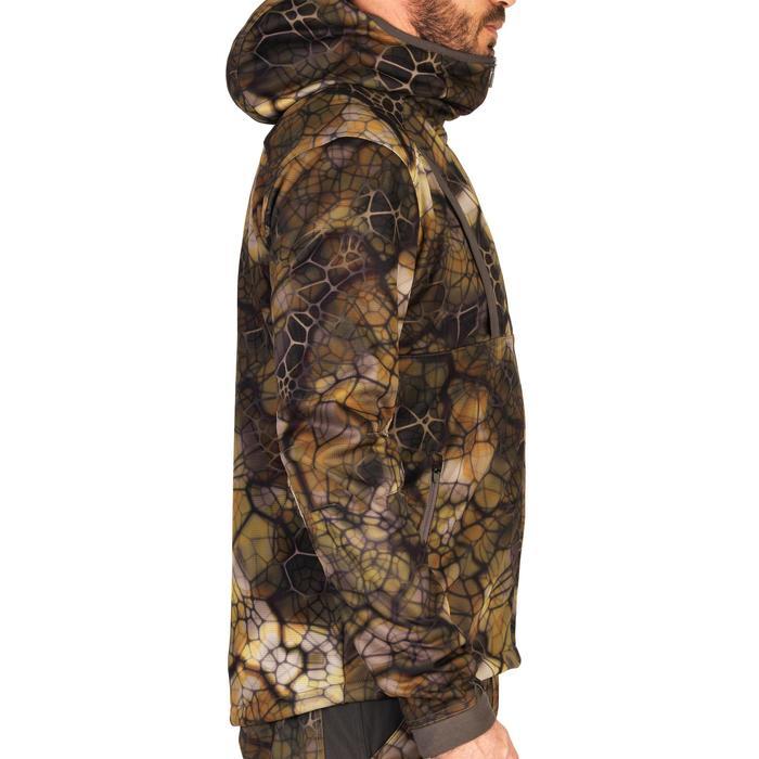 Jagdjacke geräuscharm atmungsaktiv 900 camouflage Furtiv