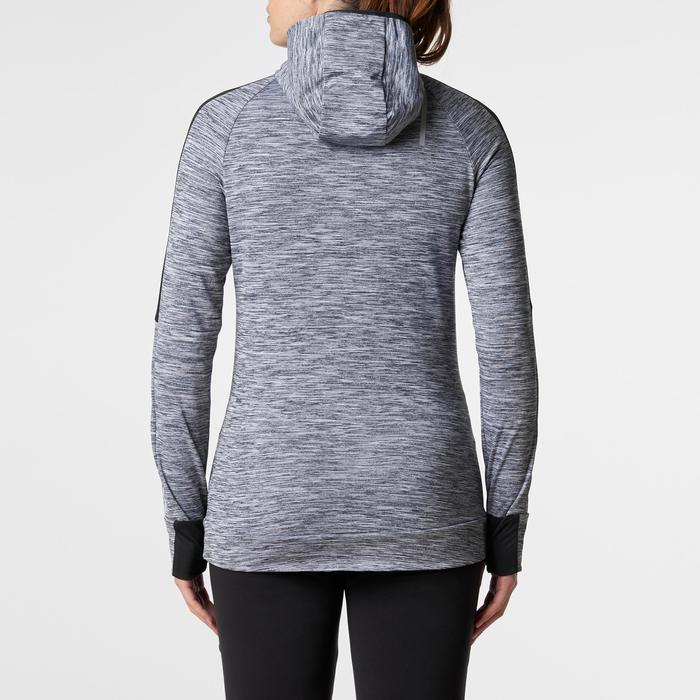 Run Warm Women's Running Long-Sleeved Jersey Hood - Mottled Grey  - 1345806