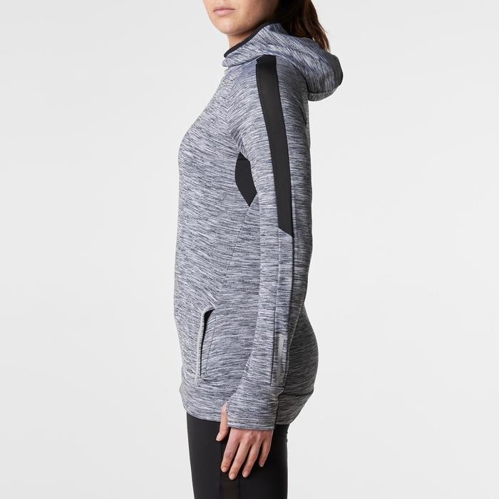 Run Warm Women's Running Long-Sleeved Jersey Hood - Mottled Grey  - 1345813