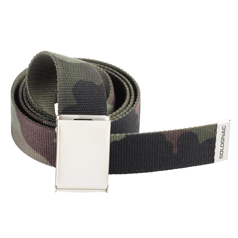 Cinturon Caza Solognac 100 Adulto Ajustable Camuflaje Verde