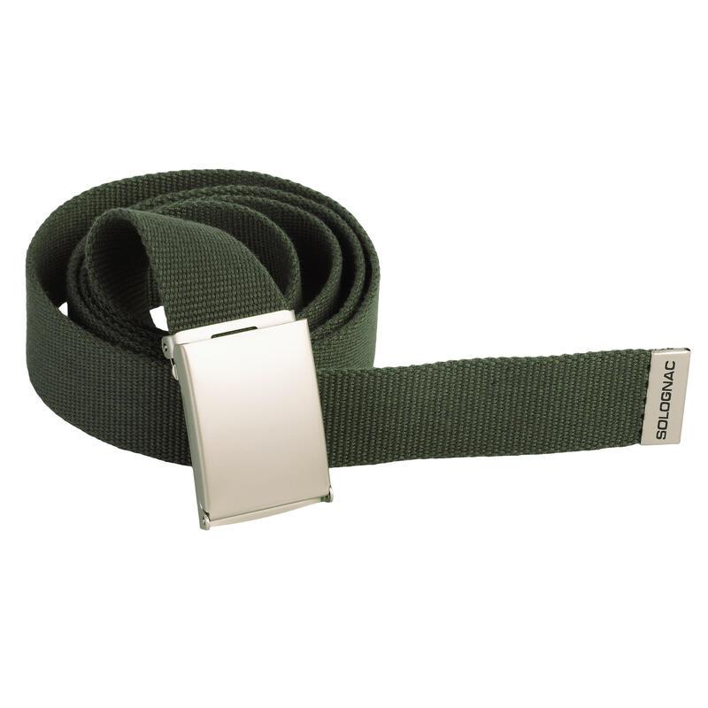 Cinturon Caza Solognac 100 Adulto Ajustable Verde