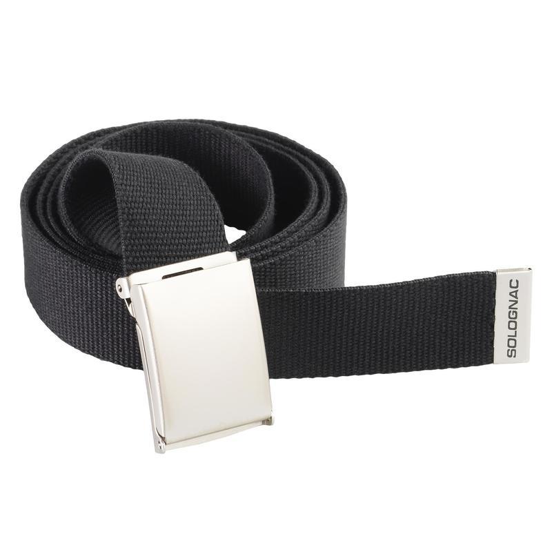 Cinturon Caza Solognac 100 Adulto Ajustable Negro