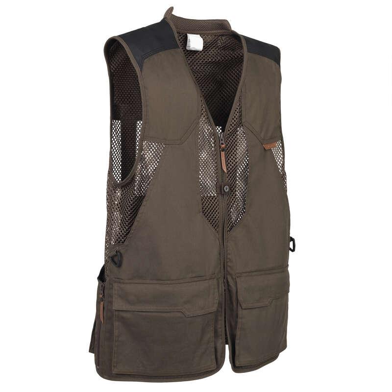 HUNTING VESTS Shooting and Hunting - BREATHABLE GILET 520 BROWN SOLOGNAC - Hunting and Shooting Clothing