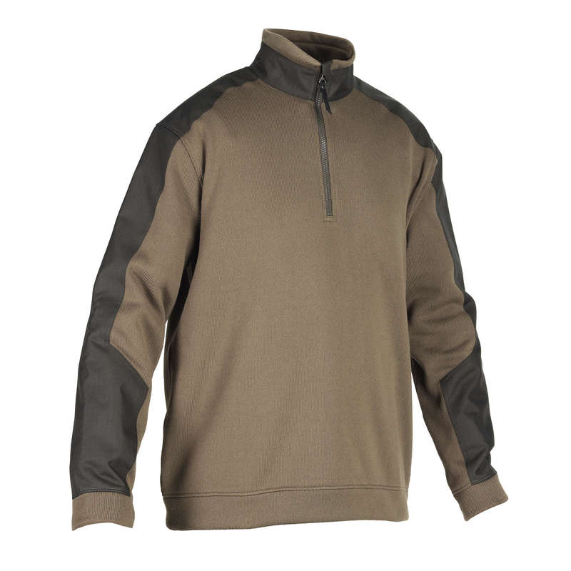 REINFORCED CLOTHING Shooting and Hunting - RENFORT 500 PULLOVER GREEN SOLOGNAC - Hunting and Shooting Clothing